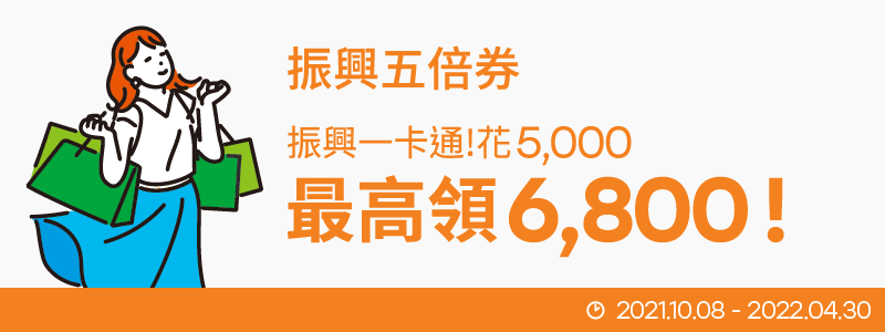 【一卡通×振興五倍券】花 5,000 最高領 6,800!